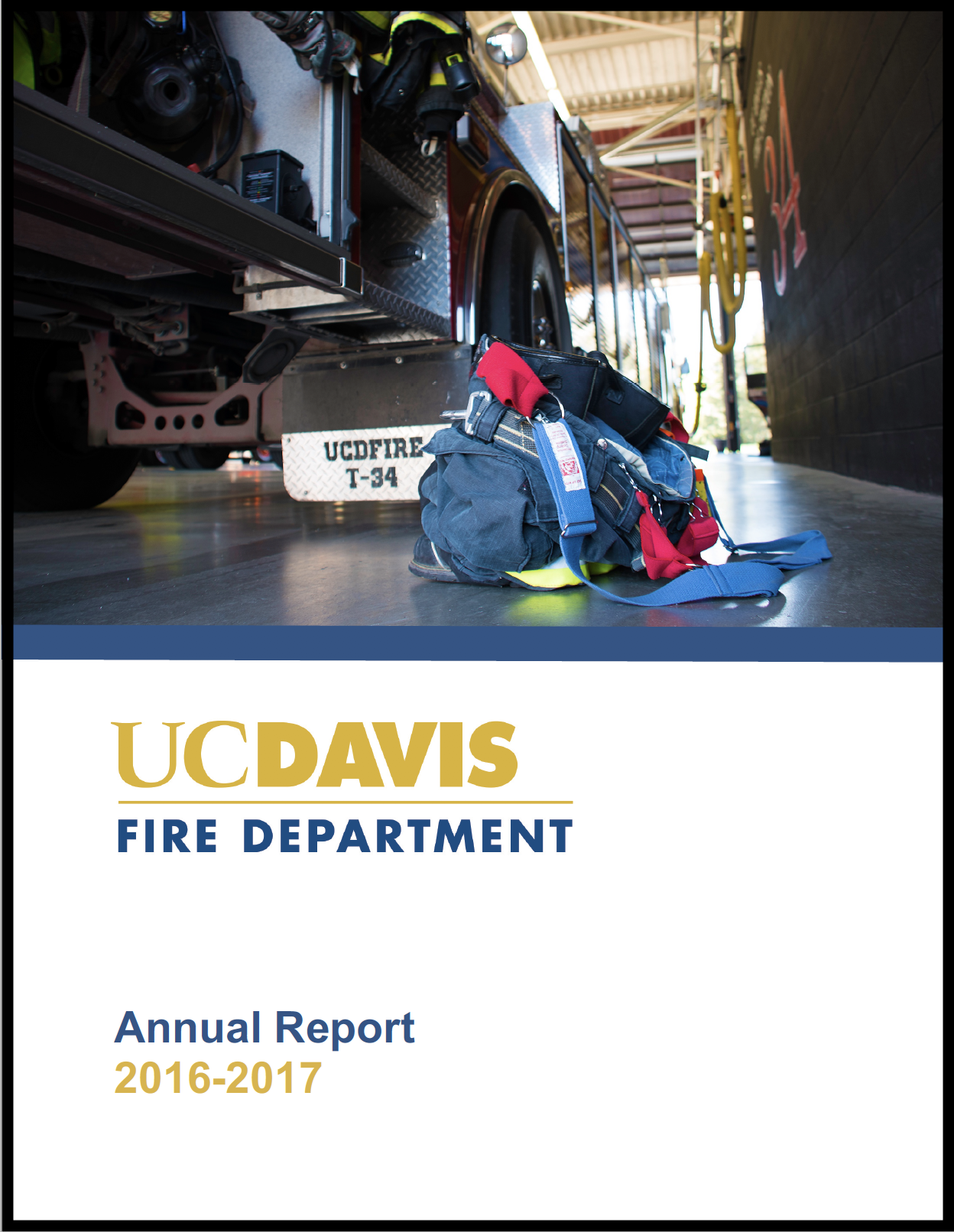 Cover of 2016-2017 UCDFD Annual Report