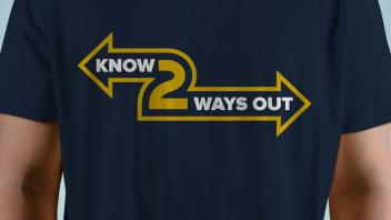 "shirt that says ""Know 2 Ways Out"""