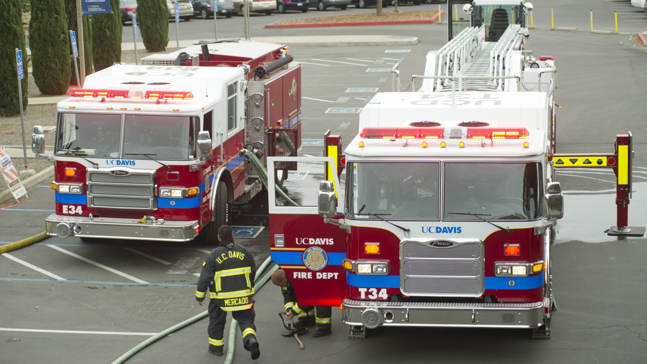 UC Davis Fire Engine and Truck 34
