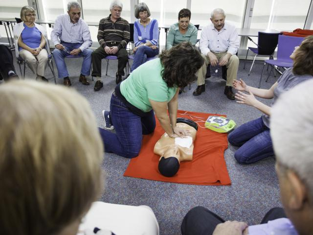 CPR class for adults.