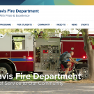 The new UC Davis Fire Department Website.